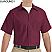 Burgundy - Red Kap Men's Industrial Short Sleeve Work Shirt # SP24BY