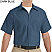 Dark Blue - Red Kap Men's Industrial Short Sleeve Work Shirt # SP24DB