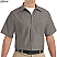 Grey - Red Kap Men's Industrial Short Sleeve Work Shirt # SP24GY