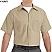 Khaki - Red Kap Men's Industrial Short Sleeve Work Shirt # SP24KK