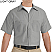 Light Grey - Red Kap Men's Industrial Short Sleeve Work Shirt # SP24LA