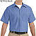 Petrol Blue - Red Kap Men's Industrial Short Sleeve Work Shirt # SP24MB