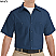 Navy - Red Kap Men's Industrial Short Sleeve Work Shirt # SP24NV