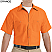 Orange - Red Kap Men's Industrial Short Sleeve Work Shirt # SP24OR