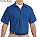 Royal Blue - Red Kap Men's Industrial Short Sleeve Work Shirt # SP24RB