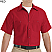 Red - Red Kap Men's Industrial Short Sleeve Work Shirt # SP24RD