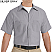 Silver Grey - Red Kap Men's Industrial Short Sleeve Work Shirt # SP24SV