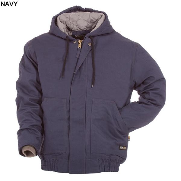 Berne Flame Resistant Quilt Lined Hooded Jacket Frhj01