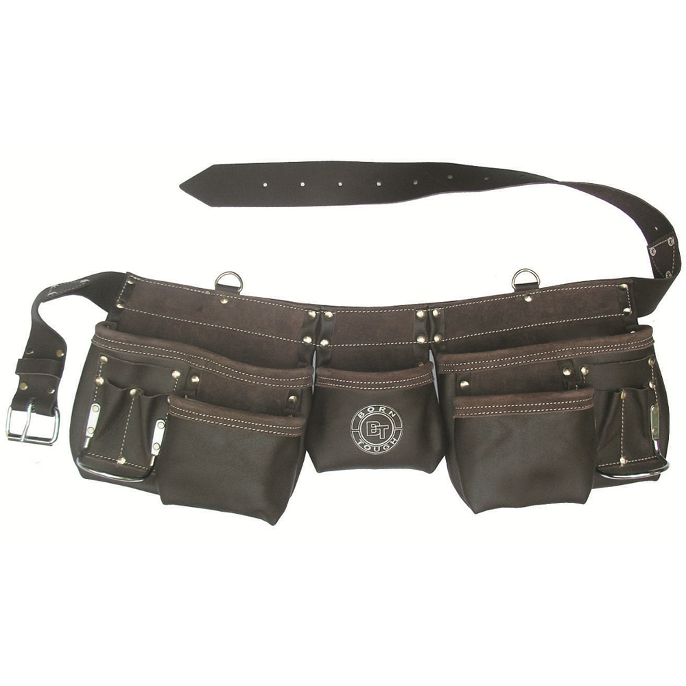 bourn tough ot 19 tool belt 11 pocket tanned leather