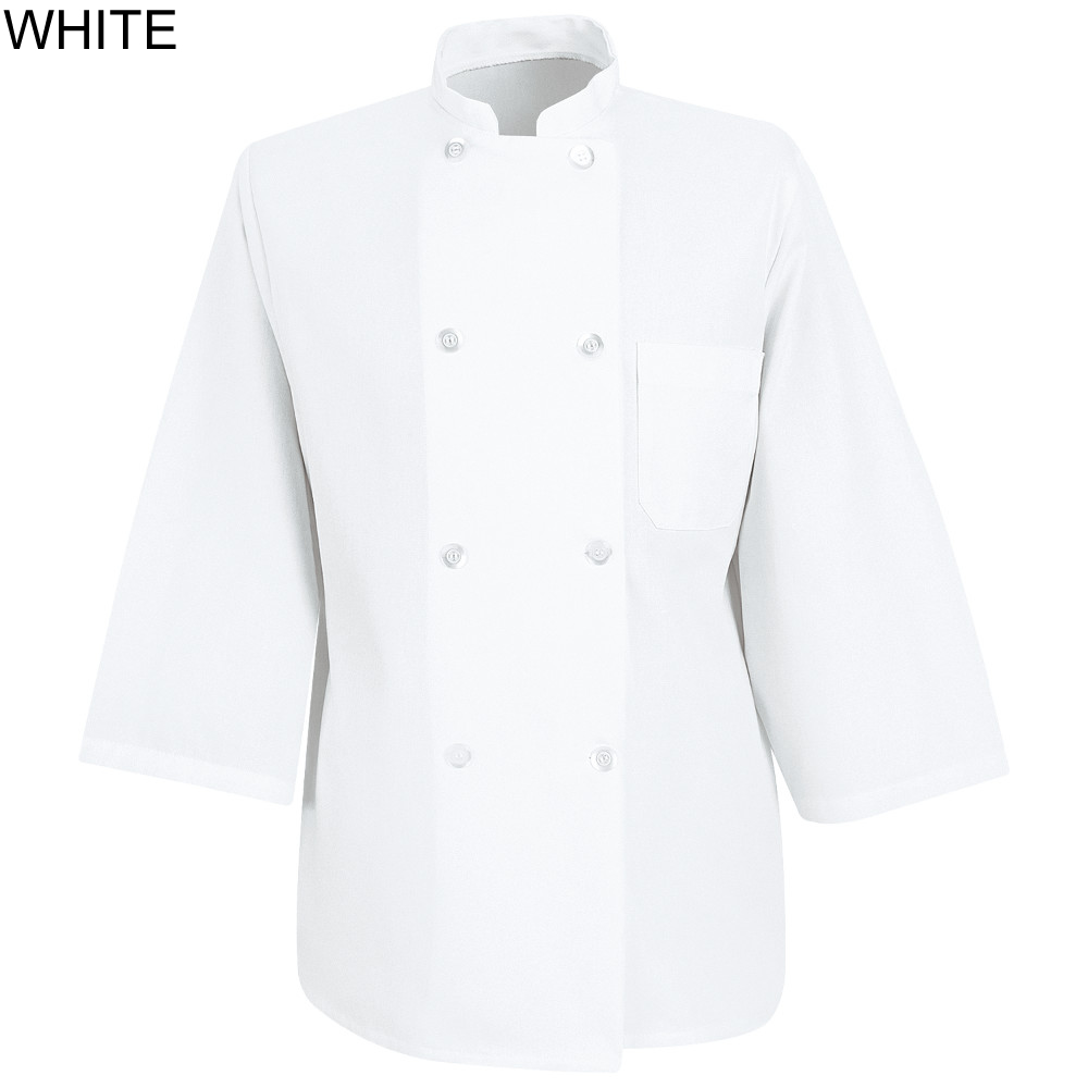 Chef Designs 0402 White 3 4 Sleeve Chef Coat 0402wh