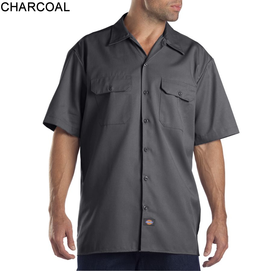 Dickies short sleeve work shirt 1574 for Men s fashion short sleeve shirts