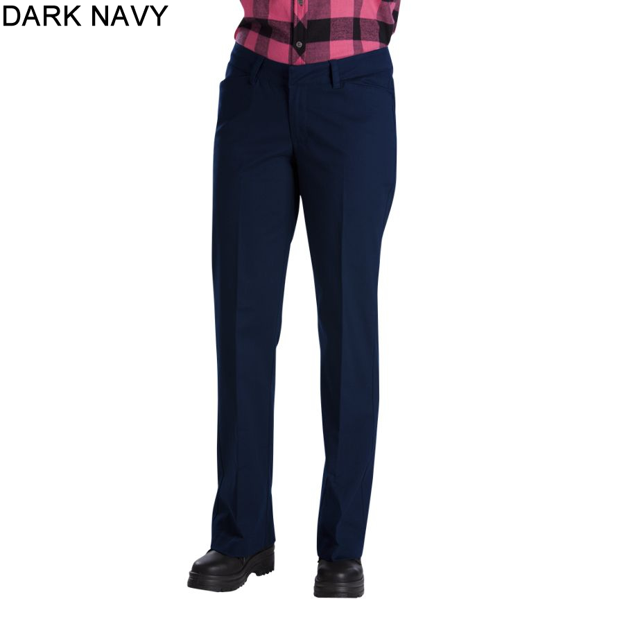 Cool Dickies Pants Womens Relaxed Fit Straight Leg Stretch Twill Work Pant