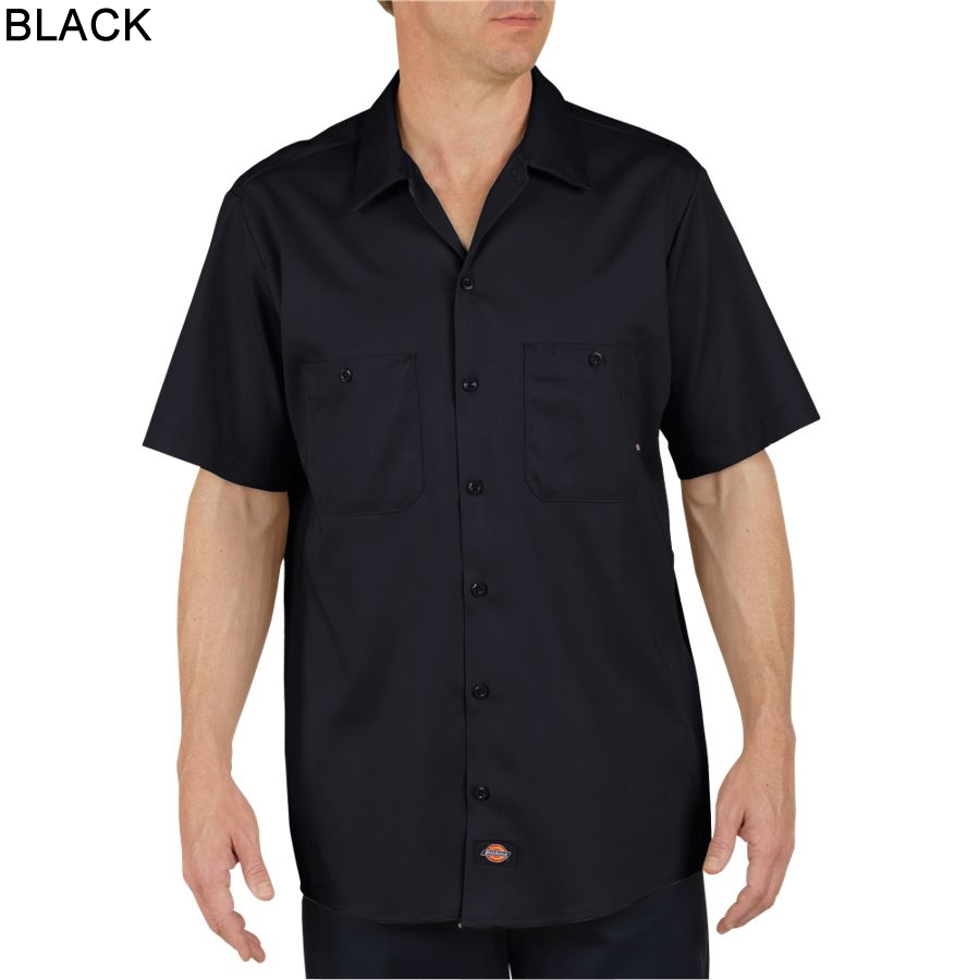 Dickies short sleeve industrial cotton work shirt ls307 for Dickey shirts clothing co