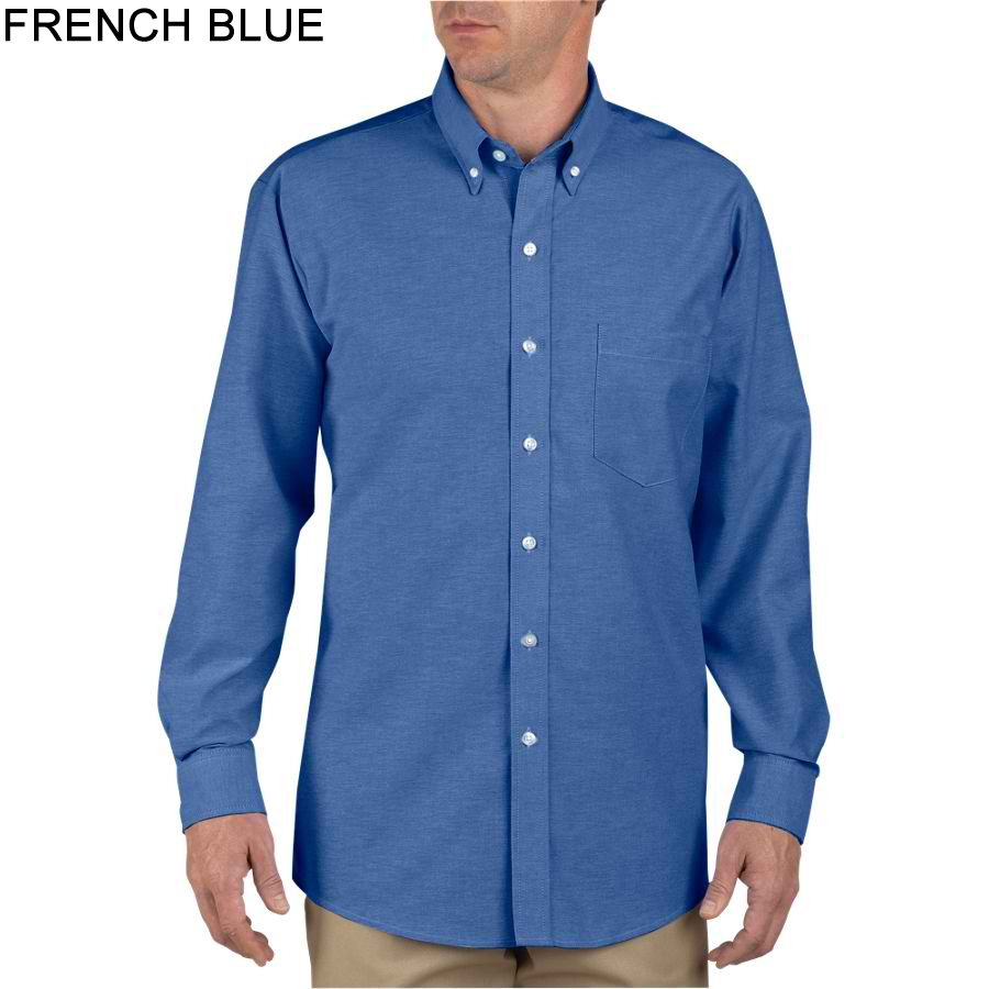 Dickies Long Sleeve Button-Down Oxford Shirt - SS36