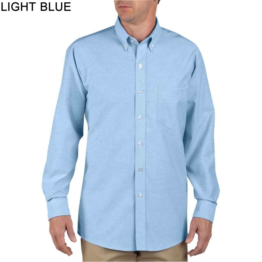 Dickies long sleeve button down oxford shirt ss36 for Oxford long sleeve button down shirt