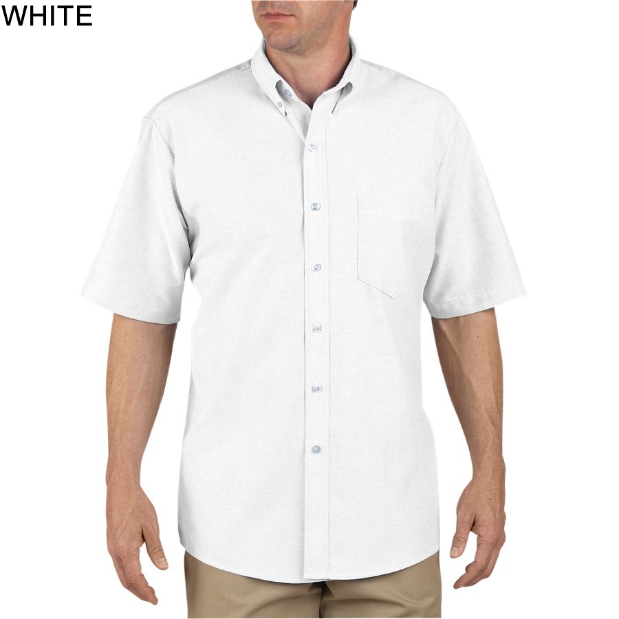 Dickies short sleeve button down oxford shirt ss46 for Mens white oxford button down shirt