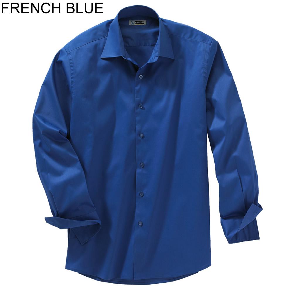Edwards men 39 s long sleeve spread collar dress shirt 1033 for Mens wide collar dress shirts