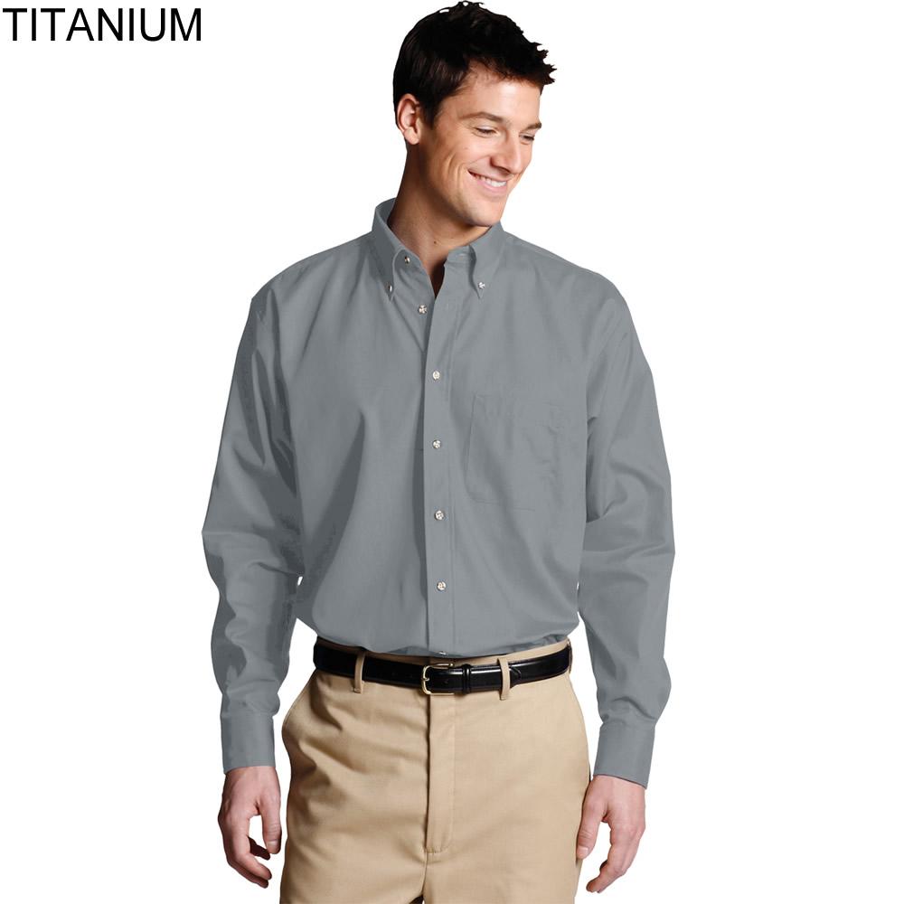 Edwards men 39 s poplin long sleeve shirt 1280 for Long sleeve poplin shirt