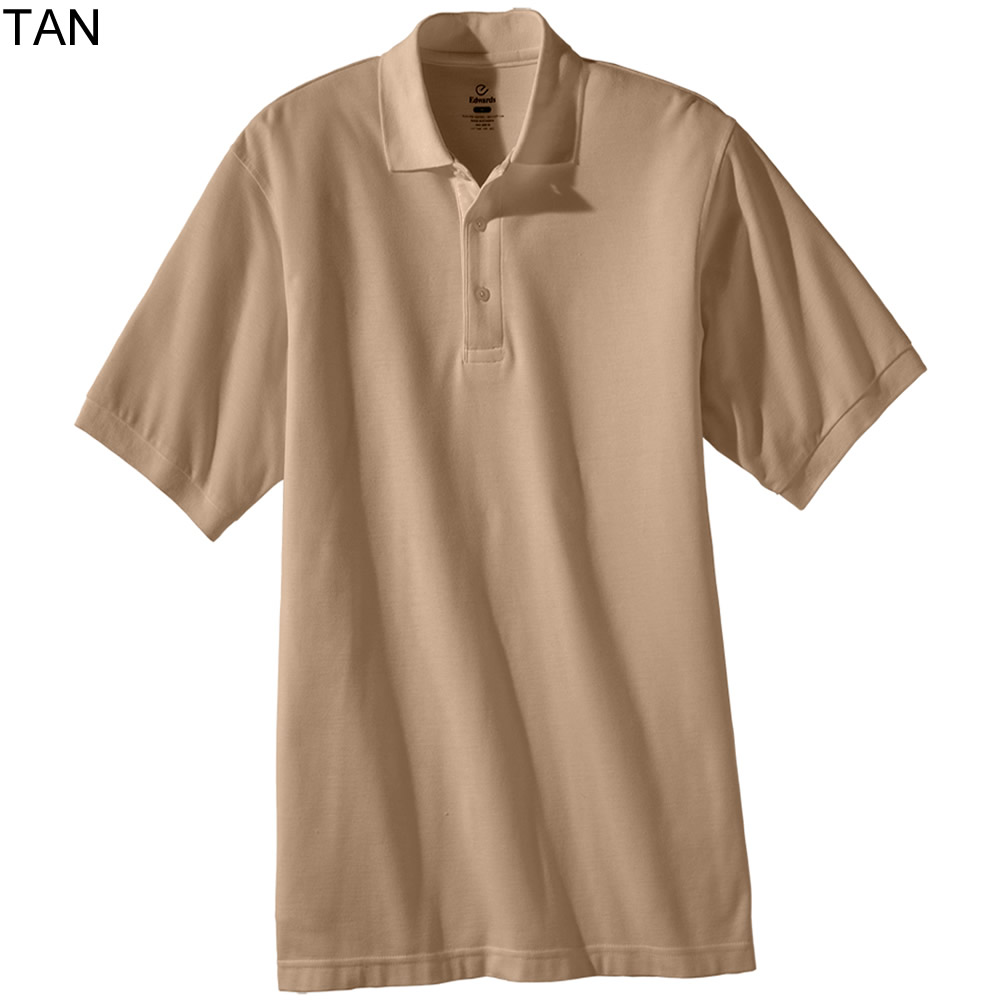 Edwards Mens Short Sleeve Pique Polo Shirt 1500