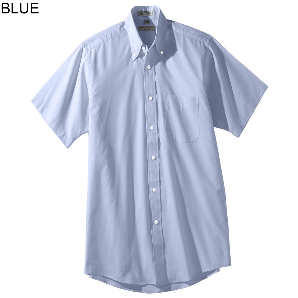 Edwards men 39 s short sleeve oxford shirt 1925 for Mens short sleeve oxford shirt