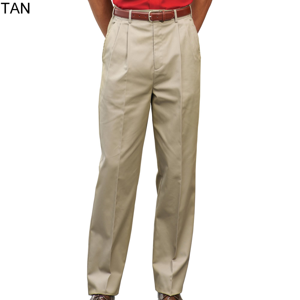 Try our Men's Traditional Fit Pleat No Iron Chino at Lands' End. Everything we sell is Guaranteed. Period.® Since
