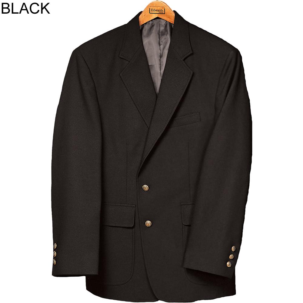 black single men in edwards Edwards mens uniform blazer black 36-46 short 36-54 regular our edwards single breasted polyester blazer offers our edwards men's and women's uniform.