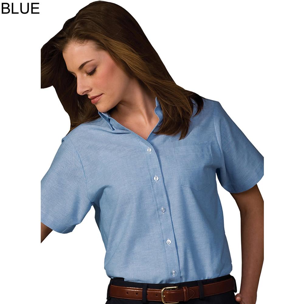 Edwards women 39 s short sleeve oxford shirt 5027 for Short sleeve shirt for women