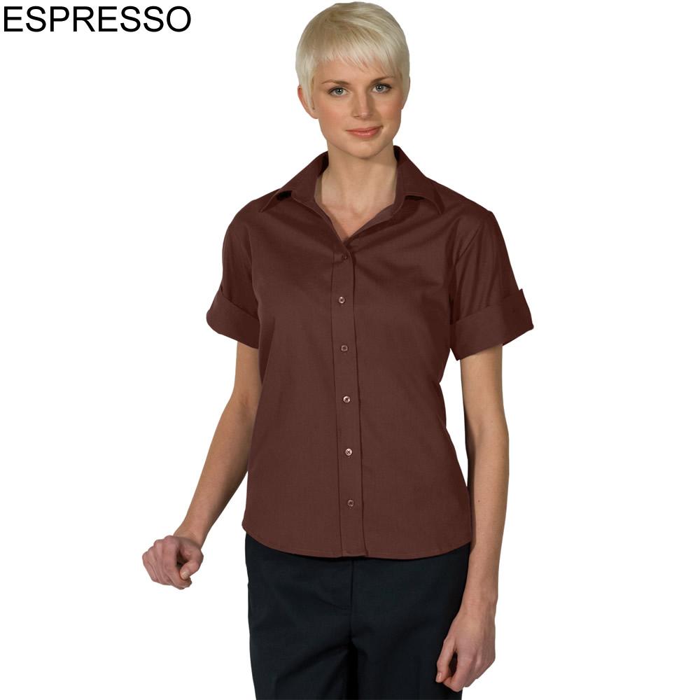 Edwards women 39 s poplin short sleeve shirt 5245 for What is a poplin shirt
