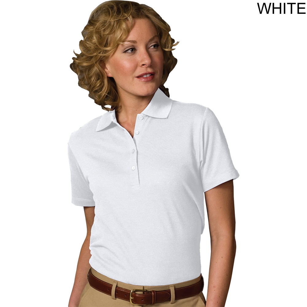 Edwards Womens Short Sleeve Pique Polo Shirt 5500