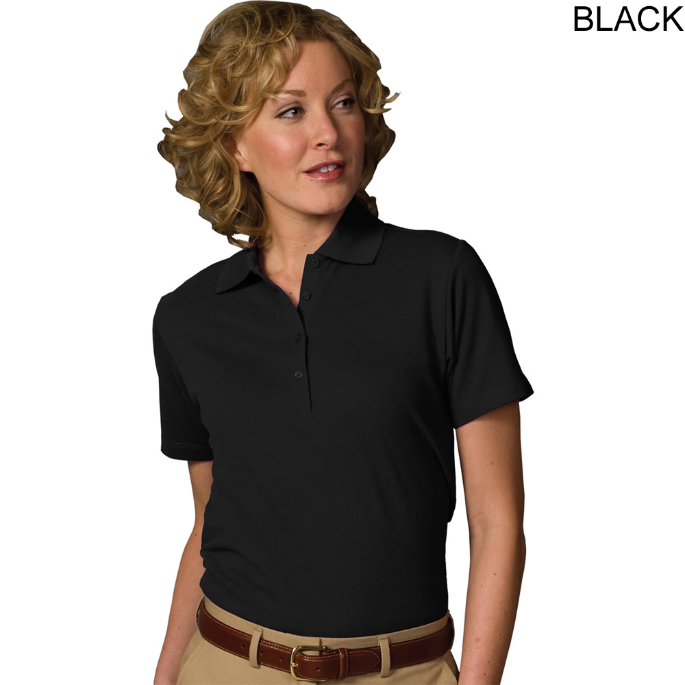 Edwards women 39 s short sleeve pique polo shirt 5500 for Woman s polo shirts