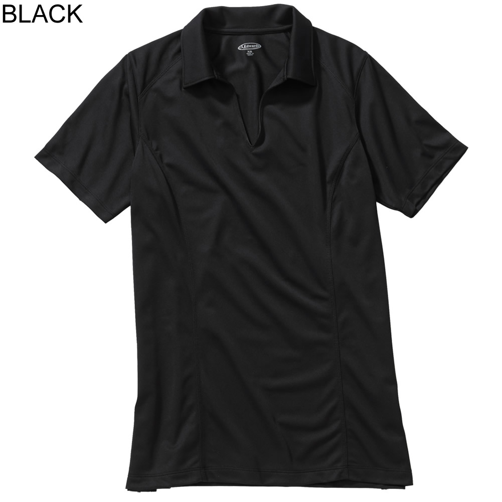 Ed Garments Mens Poly Moisture Wick Fade// Snag Resistant Micro Pique Polo Shirt