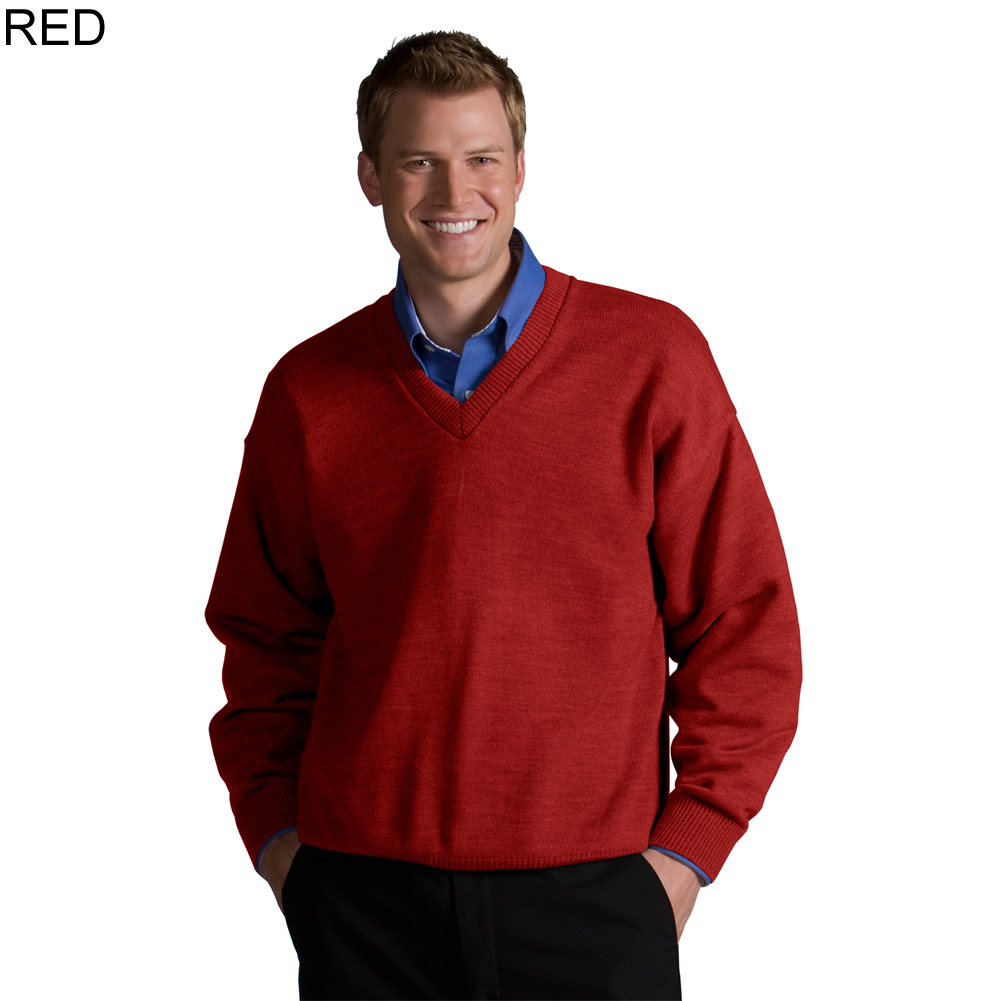 Edwards Men's Acrylic V-Neck Sweater -565