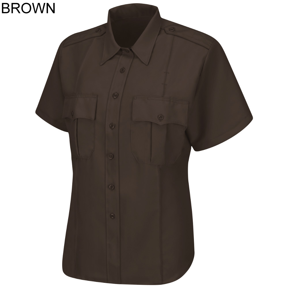 Horace Small HS1248 Mens Sentry Plus SS Shirt Silver Tan 16 Neck