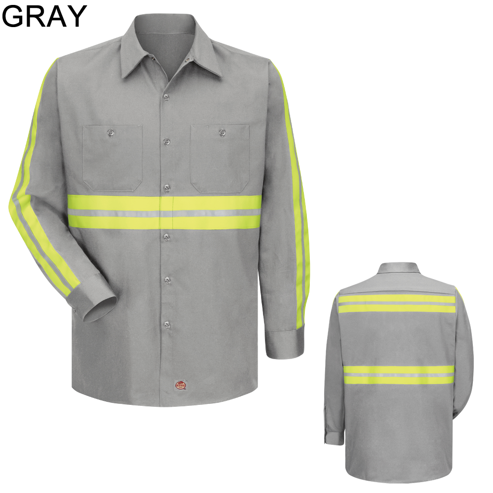 Red Kap Sc30 Men 39 S Enhanced Visibility Cotton Work Shirt