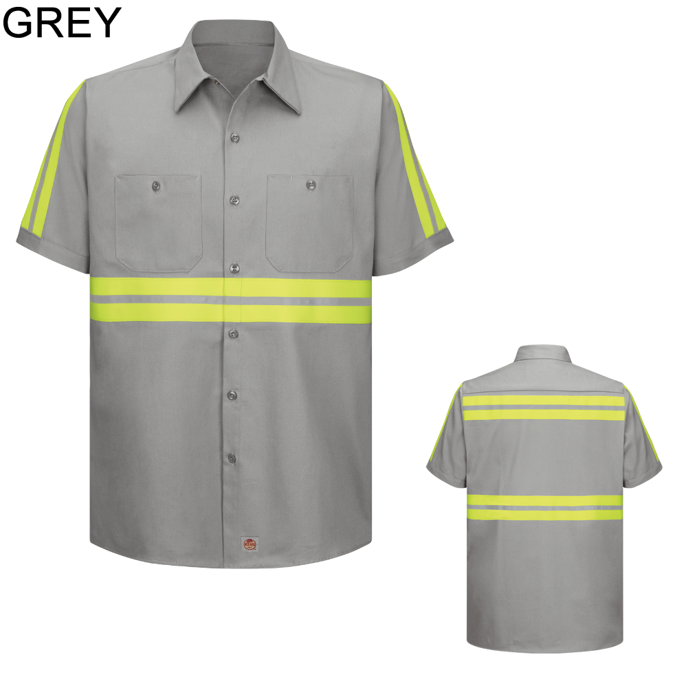 Red Kap Sc40 Men 39 S Enhanced Visibility Cotton Work Shirt