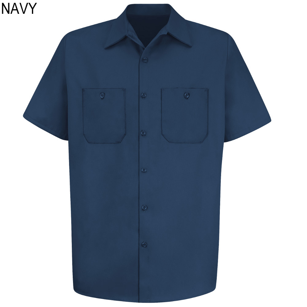 Red Kap Sc40 Wrinkle Resistant Short Sleeve Cotton Shirt