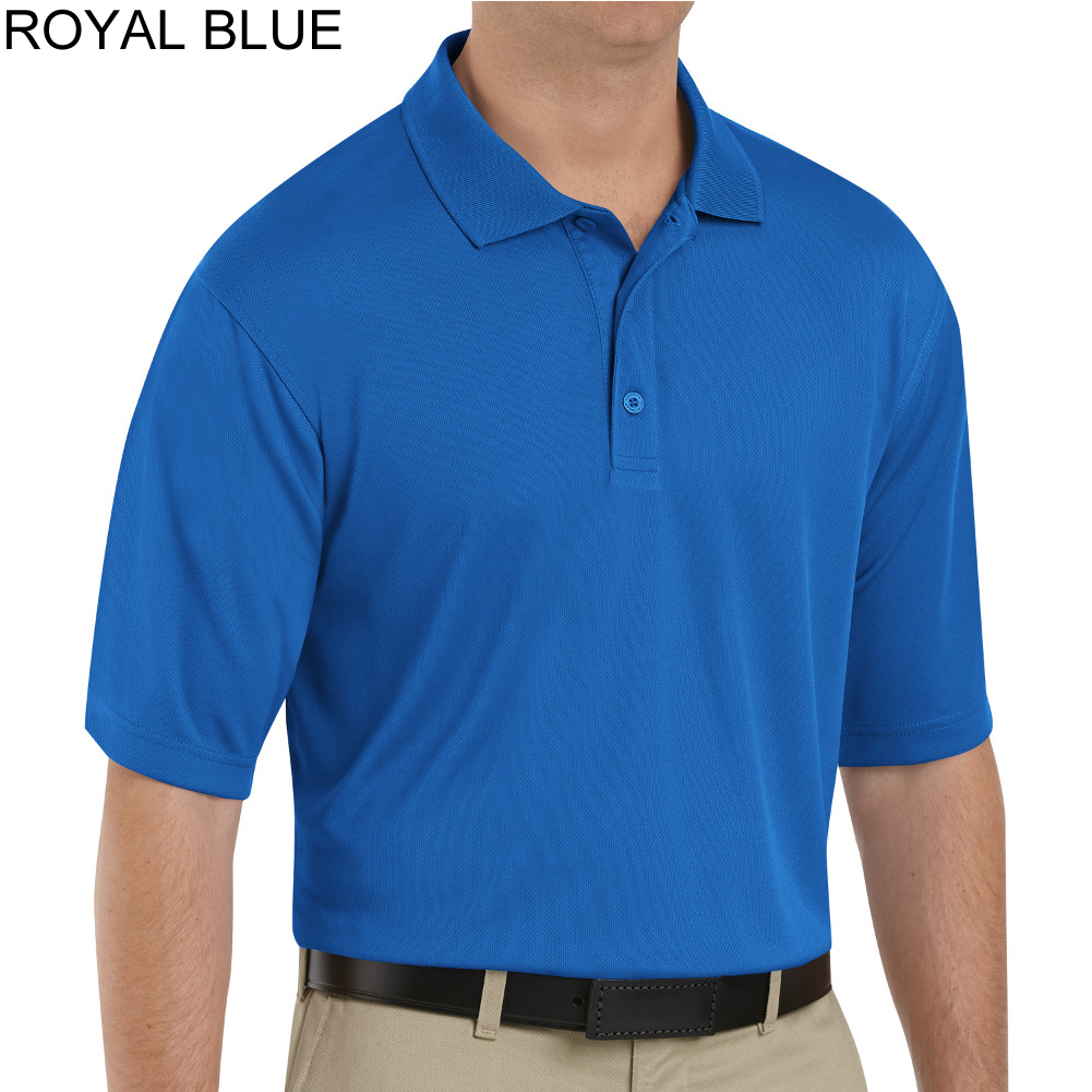 red kap men 39 s 100 polyester mesh short sleeve polo shirt