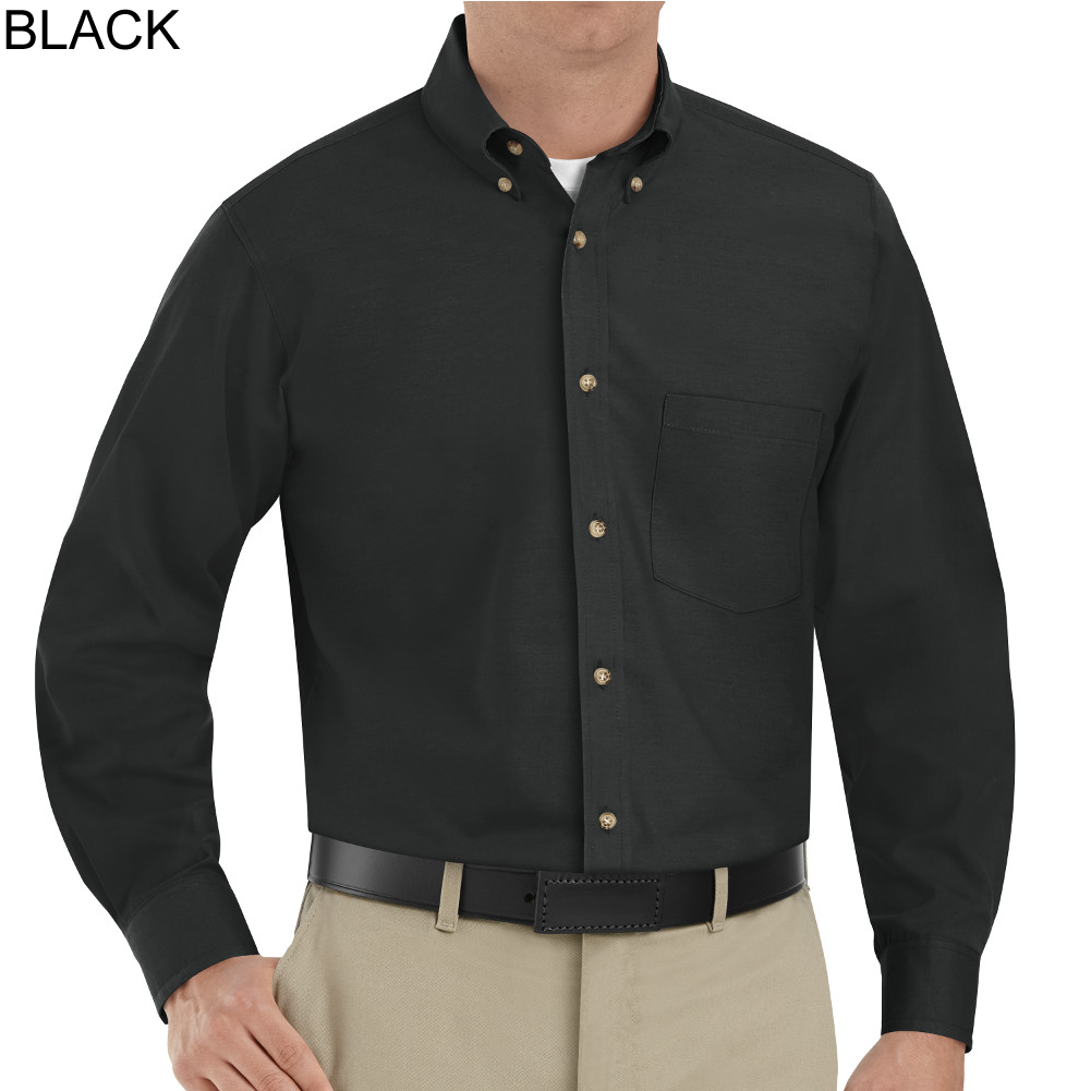 Black Long Sleeve Button Down Shirt Mens