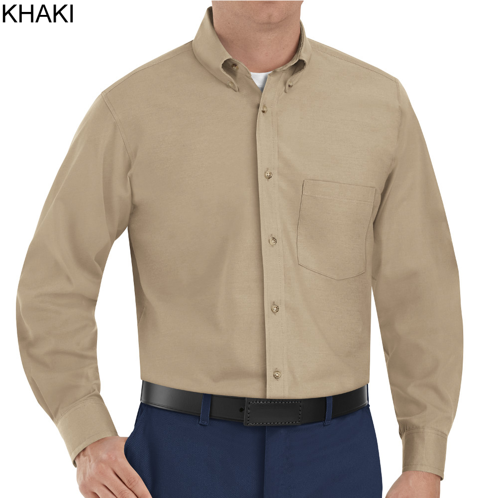 Red Kap SP90 Men's Long Sleeve Button-Down Poplin Shirt