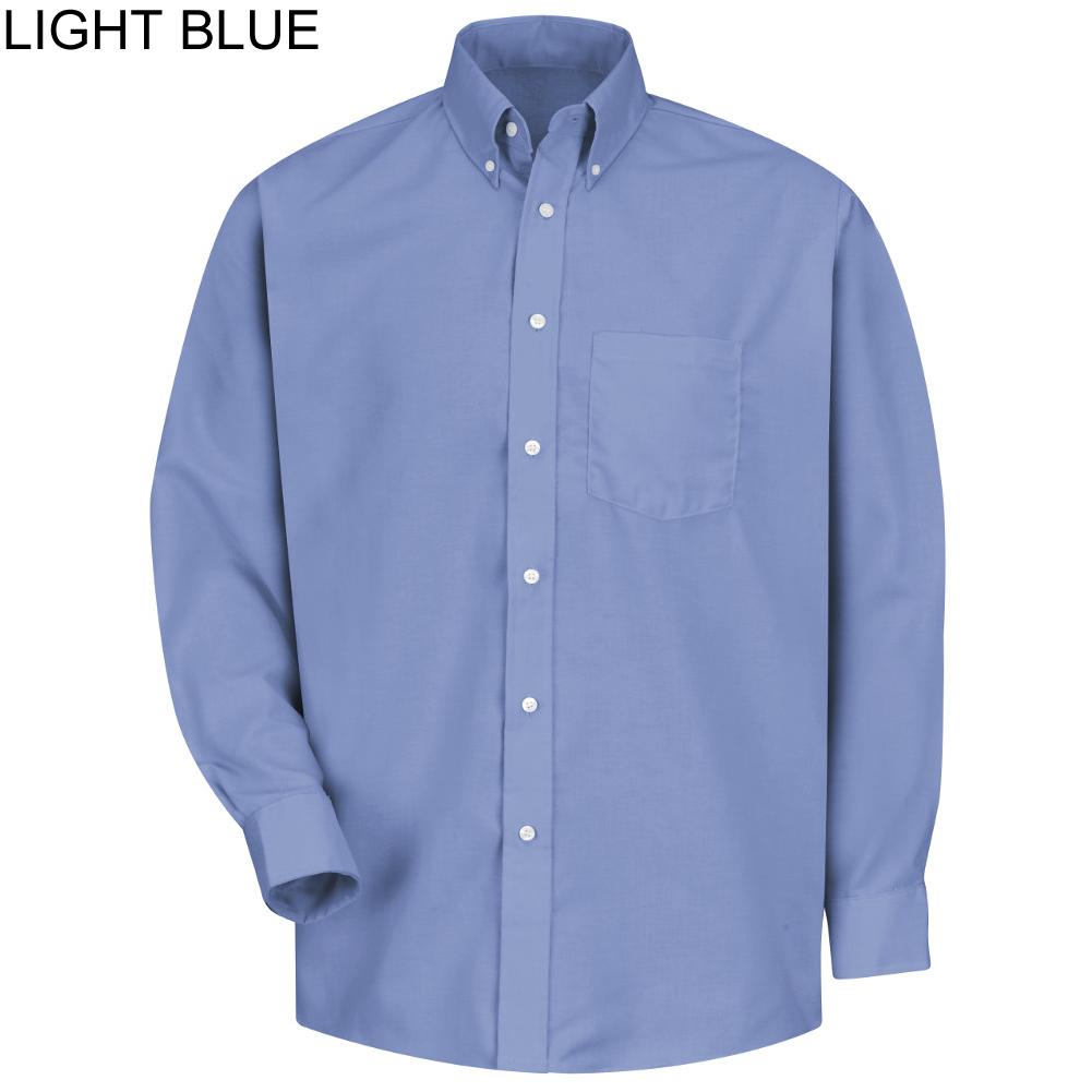 Red kap ss36 men 39 s mock oxford button down dress long for Mens button down shirts