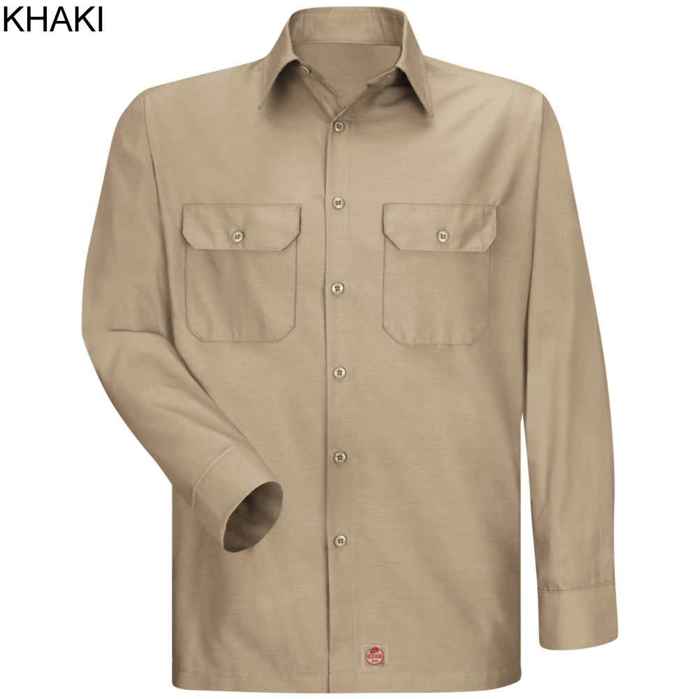 Red Kap Men 39 S Solid Ripstop Long Sleeve Shirt Sy50