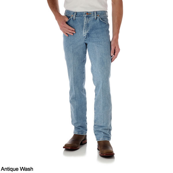 45147dd6 Antique Wash - Wrangler Men's Cowboy Cut Original Slim Fit Western Jeans #  0936ATW ...