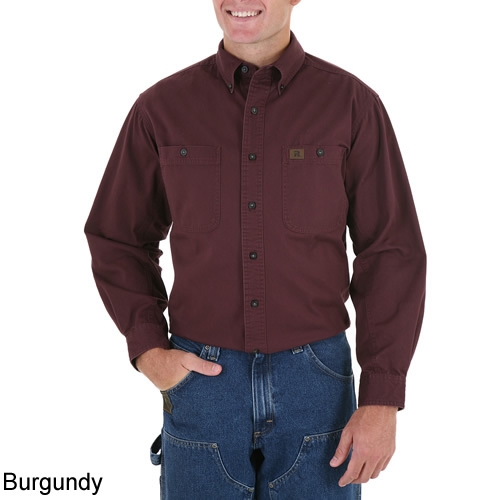 Riggs Workwear By Wrangler Long Sleeve Twill Work Shirt