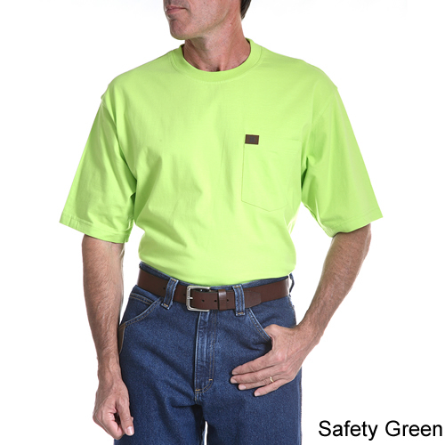 Men/'s Wrangler Riggs Workwear Forest Green SS Pocket T-Shirt NWT