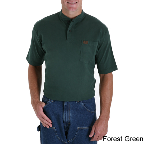 3e3a2ffcbc24 ... Forest Green - Riggs Workwear by Wrangler Short Sleeve Henley # 3W760FG  ...