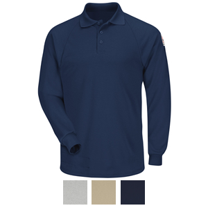 9fef7e93696f Bulwark COOLTOUCH 2 Classic Long Sleeve Polo Shirt - SMP2