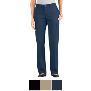 5e26547a319 Dickies Women s Premium Relaxed Fit Straight Leg Cotton Cargo Pant -  FP337 FPW337