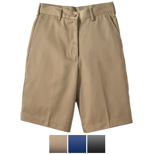 Ladies' Flat Front Chino Utility Short - 8465