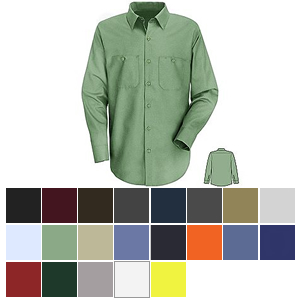 Red Kap SP14 Men's Industrial Long Sleeve Work Shirt