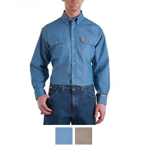 d579c08d6e8a Riggs Workwear by Wrangler Men s Flame Resistant Long Sleeve Work Shirt -  FR3W5